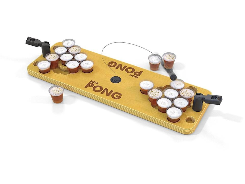 <p>This <span>Mini Pong Game</span> ($45) is a fun game you can play together. </p>
