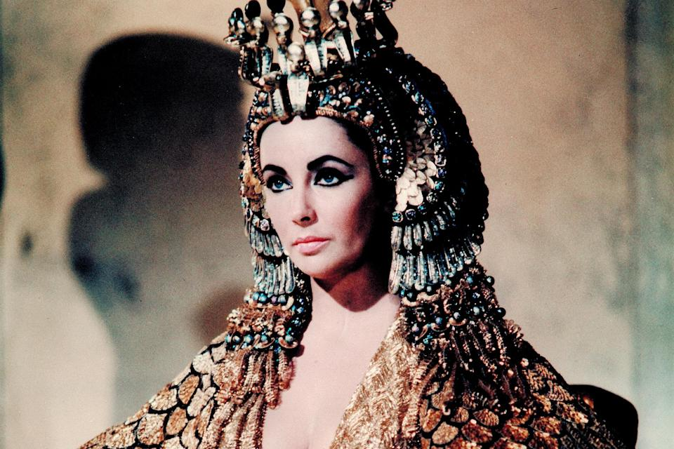 """File photo: Elizabeth Taylor starred in the famously lavish 1963 production of """"Cleopatra"""""""