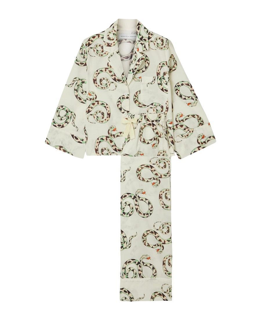 """<a href=""""https://www.glamour.com/gallery/best-pajamas-loungewear-shopping?mbid=synd_yahoo_rss"""" rel=""""nofollow noopener"""" target=""""_blank"""" data-ylk=""""slk:A pajama set"""" class=""""link rapid-noclick-resp"""">A pajama set</a> won't necessarily make the cut for most exciting Christmas gift, but wait till she sees Desmond & Dempsey eye-catching prints IRL. The illustrations are hand-painted, and the soft cotton fabric gets softer with each wash. $185, Net-a-Porter. <a href=""""https://www.net-a-porter.com/en-us/shop/product/desmond-and-dempsey/india-printed-organic-cotton-pajama-set/1230354"""" rel=""""nofollow noopener"""" target=""""_blank"""" data-ylk=""""slk:Get it now!"""" class=""""link rapid-noclick-resp"""">Get it now!</a>"""