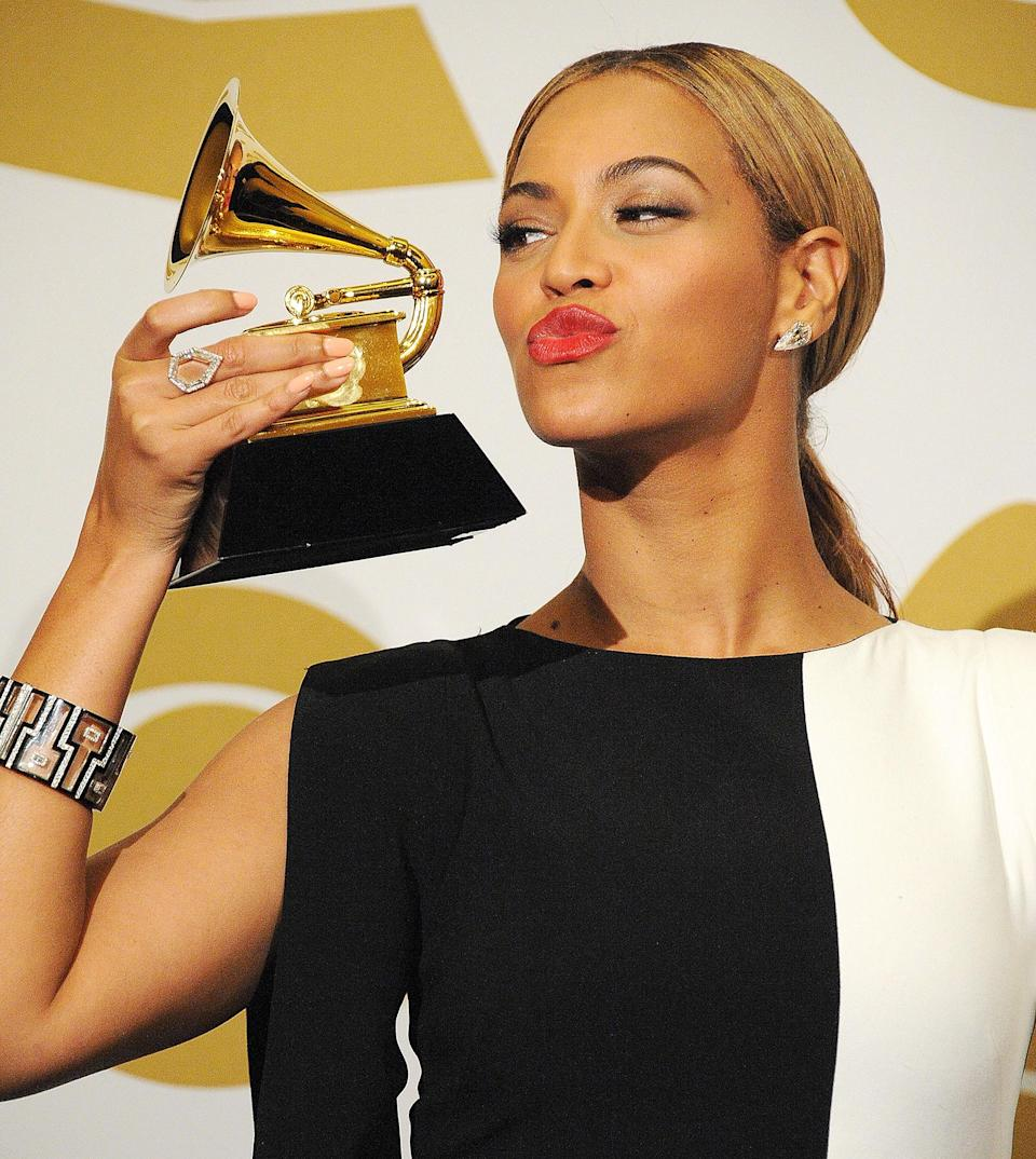 "<p>The Recording Academy put their love for Bey on top, sending her home with the Grammy for best traditional R&B performance for ""Love on Top."" </p> <p><strong>Beyoncé's Grammy Tally: </strong>17</p>"
