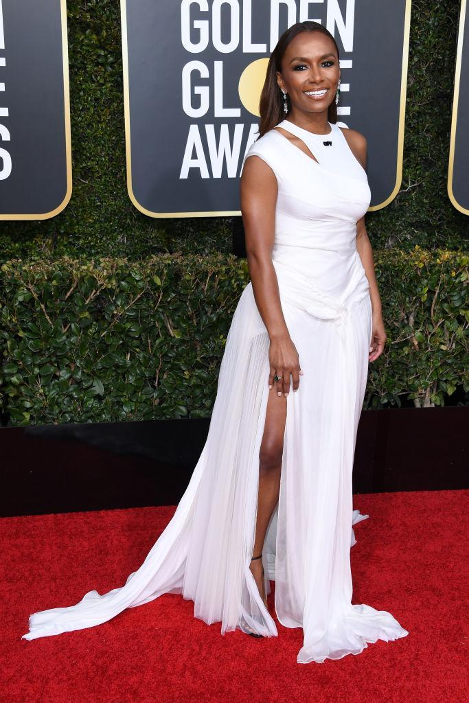 <p>Janet Mock attends the 76th Annual Golden Globe Awards at the Beverly Hilton Hotel in Beverly Hills, Calif., on Jan. 6, 2019. (Photo: Getty Images) </p>
