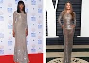 <p>Sofia Vergara attended the Vanity Fair 2017 Oscars party in a metallic crocodile print Michael Kors Collection dress. The look was classic Vergara and matched the theme of the night in shimmering Oscars silver and gold, with just one caveat: Fans saw it on Naomi Campbell three years ago. Campbell chose the same Michael Kors bodycon number to present at the 2014 National Television Awards. She polished the look with minimal jewelry — one simple gold ring and another in chunky gold — while Vergara went with statement Lorraine Schwartz diamonds. <i>[Photo: PA]</i></p>