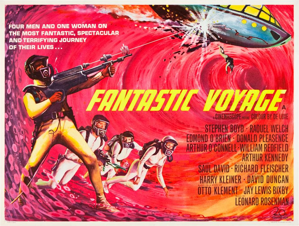 Fantastic Voyage, poster, British poster art, 1966. (Photo by LMPC via Getty Images)
