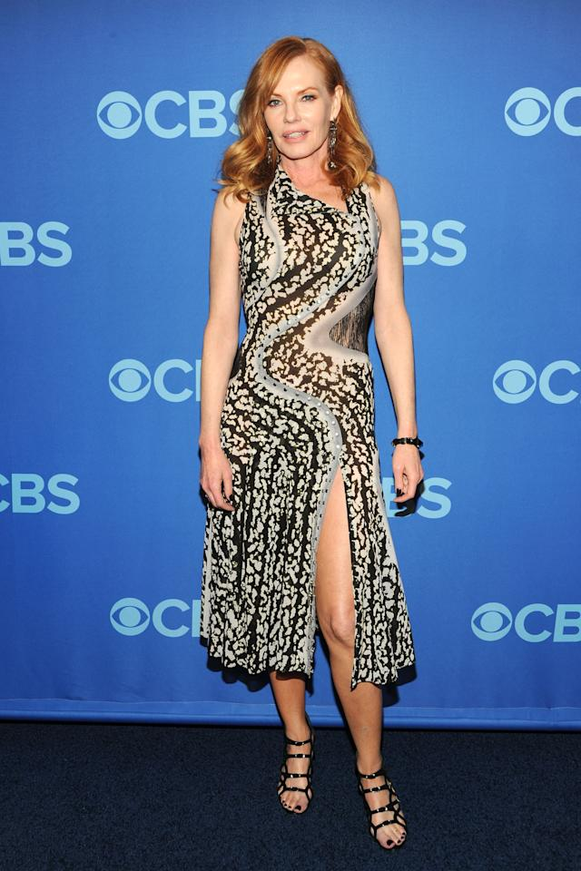 NEW YORK, NY - MAY 15:  Marg Helgenberger attends CBS 2013 Upfront Presentation at The Tent at Lincoln Center on May 15, 2013 in New York City.  (Photo by Ben Gabbe/Getty Images)