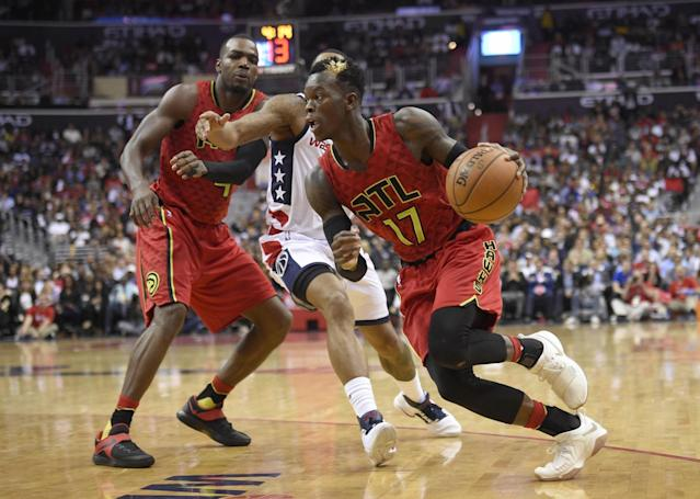 Dennis Schroder is averaging 24.4 points and 7.2 assists this postseason. (AP)