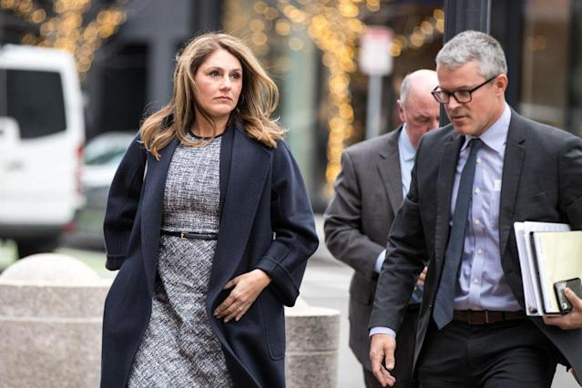 Michelle Janavs was sentenced for her role in the college admissions scandal Tuesday in Boston. (Photo: Scott Eisen/Bloomberg)