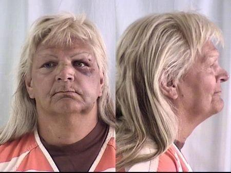 Linda Thompson is pictured in this undated handout booking photo