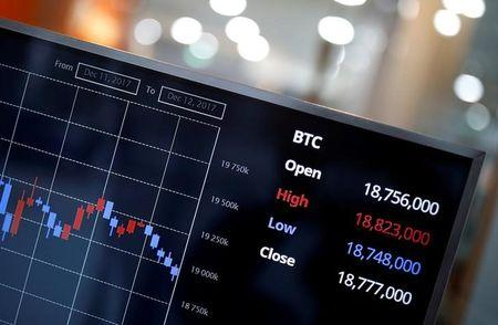 An electric board showing the exchange rate between South Korean Won and Bitcoin is seen at a cryptocurrencies exchange in Seoul, South Korea December 13, 2017. REUTERS/Kim Hong-Ji/Files