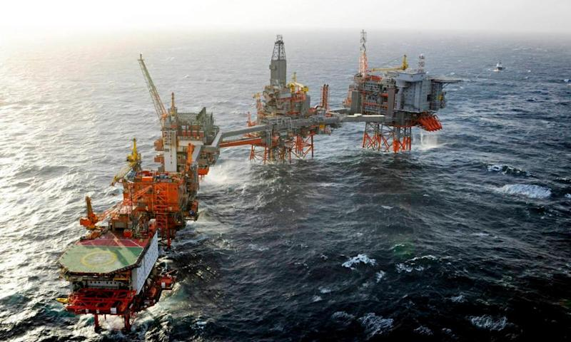 BP's Valhall platform in the Norwegian North Sea.