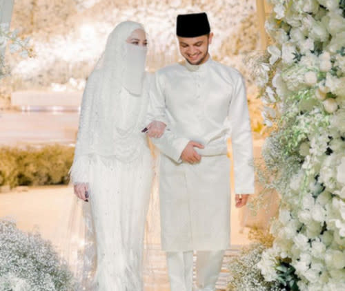 Neelofa and Haris were previously fined for violating SOP guidelines at their wedding