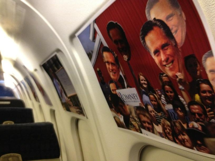 Aboard the Romney Plane (1st time since primaries). Like what they've done with the place...
