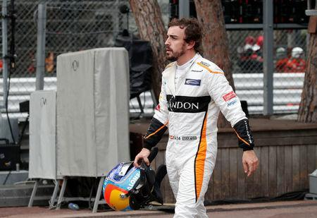 Formula One F1 - Monaco Grand Prix - Circuit de Monaco, Monte Carlo, Monaco - May 27, 2018 McLaren's Fernando Alonso after retiring from the race REUTERS/Benoit Tessier