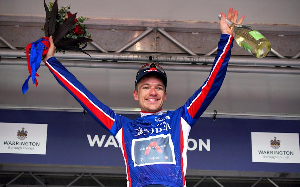 Ethan Hayter regains Tour of Britain lead after Wout van Aert snared behind crash - PA