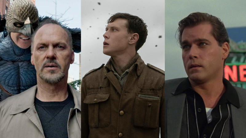 'Birdman', '1917' and 'Goodfellas'. (Credit: Fox/eOne/Warner Bros)