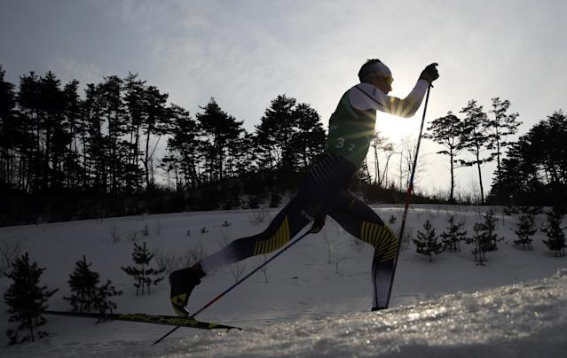 Cross-Country Skiing - Pyeongchang 2018 Winter Olympics - Men's 4x10 km Relay - Alpensia Cross-Country Skiing Centre - Pyeongchang, South Korea - February 18, 2018 - Daniel Rickardsson of Sweden in action. REUTERS/Carlos Barria TPX IMAGES OF THE DAY