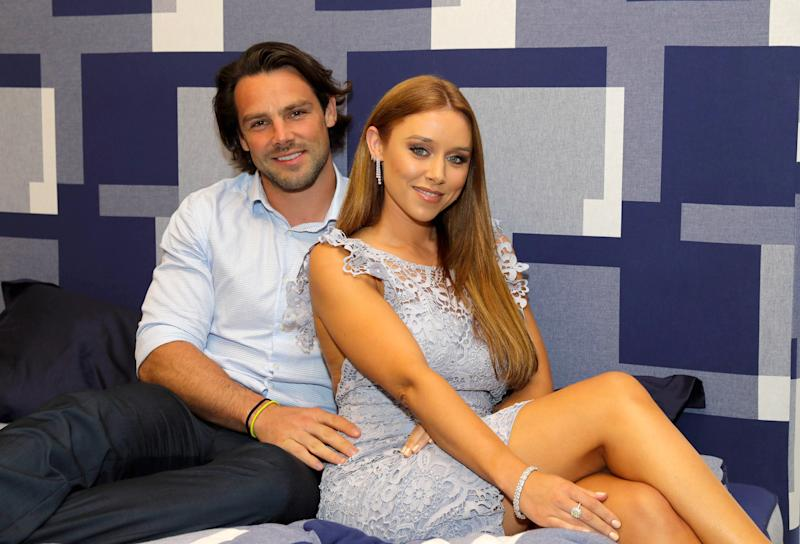 LONDON, ENGLAND - SEPTEMBER 19: Una Healy and Ben Foden attend the launch party for Hastens Appaloosa & The Marwari Beds at the Hastens Chelsea Showroom on September 19, 2017 in London, England. (Photo by David M. Benett/Dave Benett/Getty Images)
