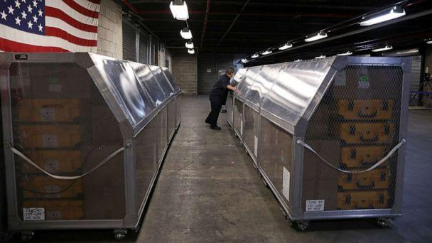 PHOTO: Ventilators at the New York City Emergency Management Warehouse are shipped out for distribution due to concerns over the rapid spread of coronavirus disease (COVID-19) in the Brooklyn borough of New York City, March 24, 2020. (Caitlin Ochs/Reuters)