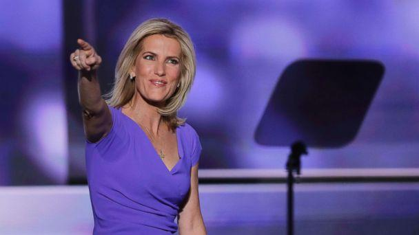 Laura Ingraham walks on stage during the third day of the Republican National Convention in Cleveland Ohio