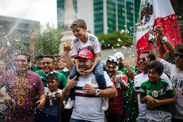 Mexico shocked the soccer world Sunday when it defeated defending champions