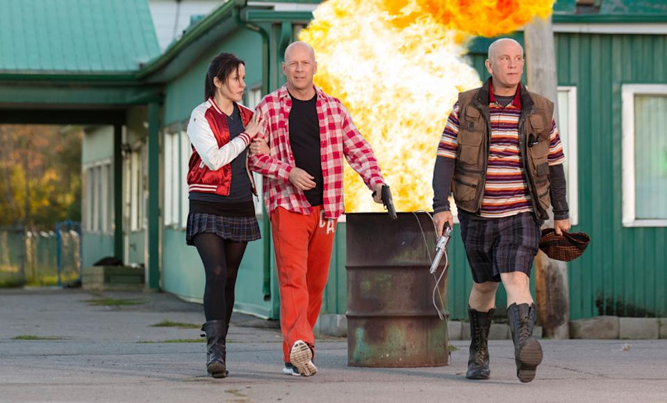"""Mary-Louise Parker, Bruce Willis and John Malkovich in Summit Entertainment's """"RED 2"""" - 2013"""