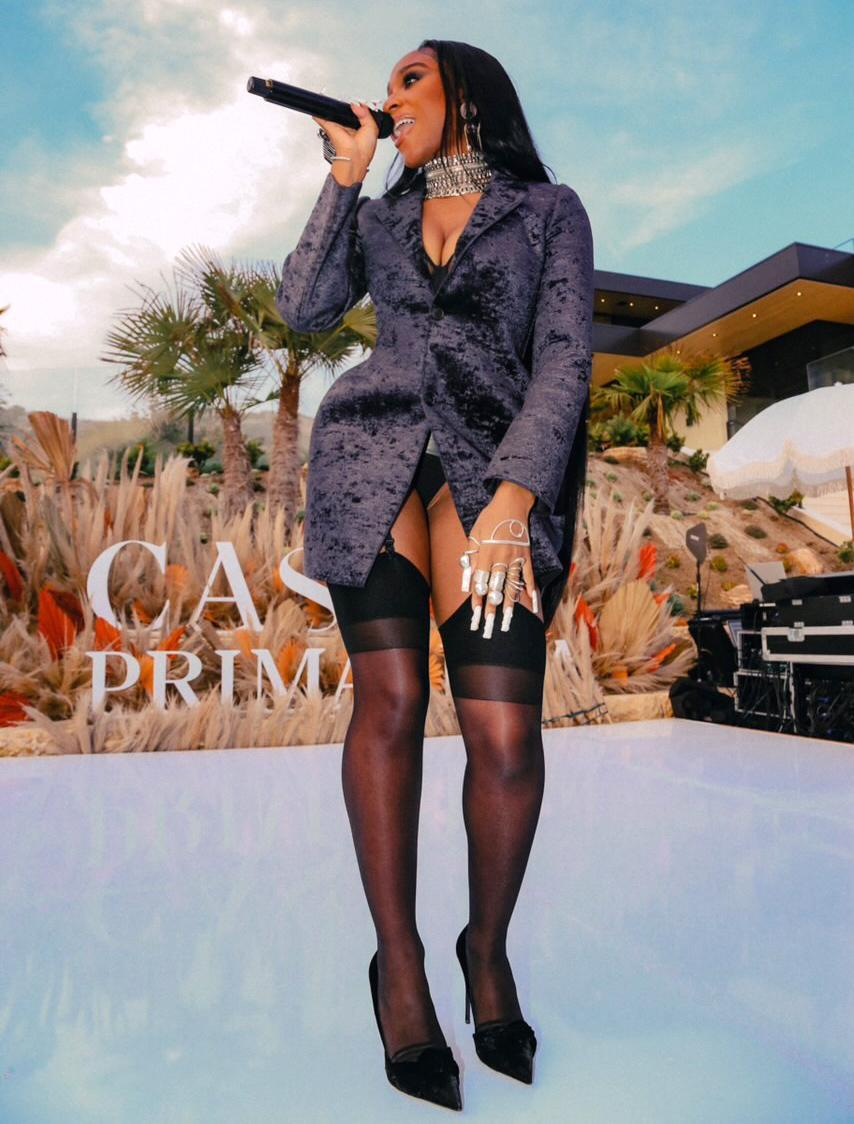 """<p>Normani performs her latest single """"Wild Side"""" at the Tequila Don Julio release party of their limited edition Tequila Don Julio Primavera.</p>"""