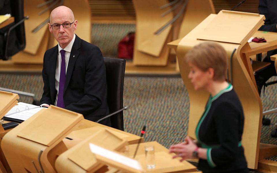 John Swinney is dealing with the affair, after Nicola Sturgeon recused herself of decision making - Russell Cheyne/PA