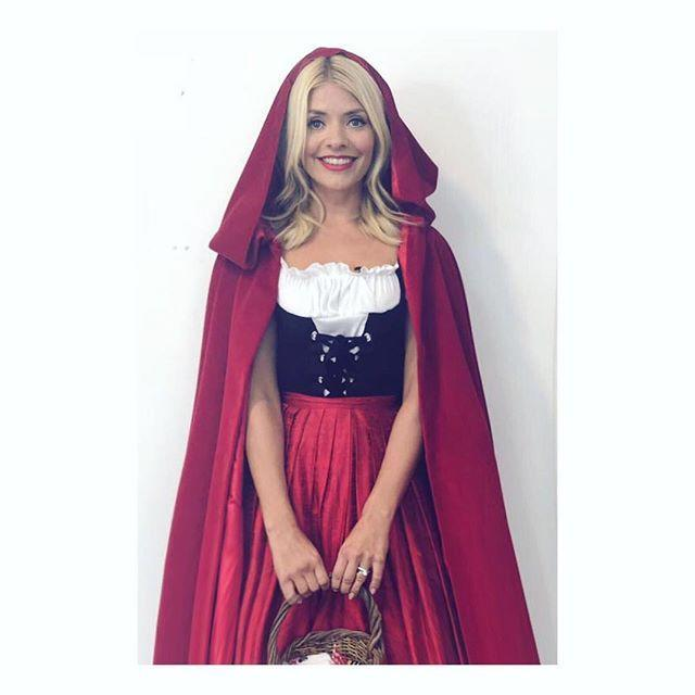 """<p>A long red cloak will keep you covered in colder temps, and if you want to make it a couples costume, your S.O. can go as the wolf. </p><p><a href=""""https://www.instagram.com/p/BbB6hOOAdWz/"""" rel=""""nofollow noopener"""" target=""""_blank"""" data-ylk=""""slk:See the original post on Instagram"""" class=""""link rapid-noclick-resp"""">See the original post on Instagram</a></p>"""