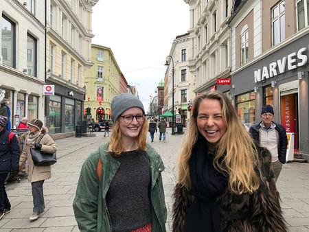 Nerbo and Davidsen pose for a picture in Oslo
