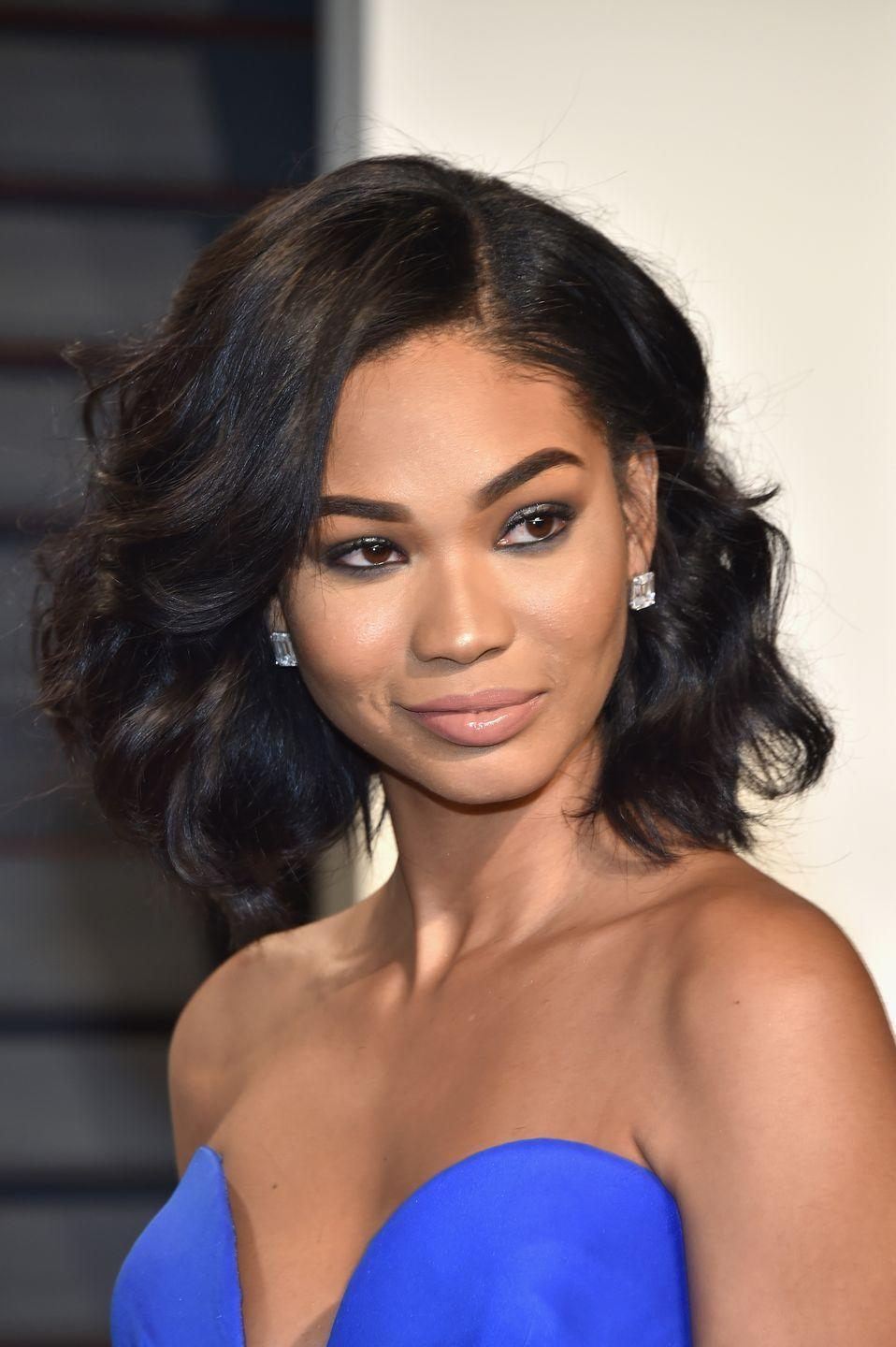 <p>Let wherever you part your hair work for you and your features. Chanel Iman's sort-of side-part paired with wispy curls is ideal for special occasions. Plus, there's so much longevity you'll get out of wearing this style once your curls fall a bit. </p>