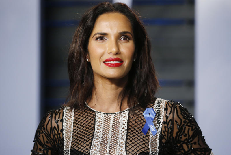 Padma Lakshmi returned to her modeling roots for a steamy photo shoot. (Photo: REUTERS/Danny Moloshok)