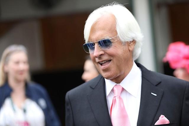 Trainer Bob Baffert is seen at Churchill Downs on May 3, 2019, in Louisville, Kentucky. (AP)