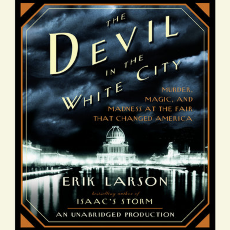 """Why you'll love it: It's the 1893 Chicago World's Fair, and during this time, Larson follows the chilling story of two men. One is Daniel Hudson Burnham, the fair's brilliant director of works. The second, murderer Henry H. Holmes — a young doctor who built his """"World's Fair Hotel"""" west of the fairgrounds as a torture palace, which included a dissection table, gas chamber, and 3,000-degree crematorium.Start listening on Libro.FM"""