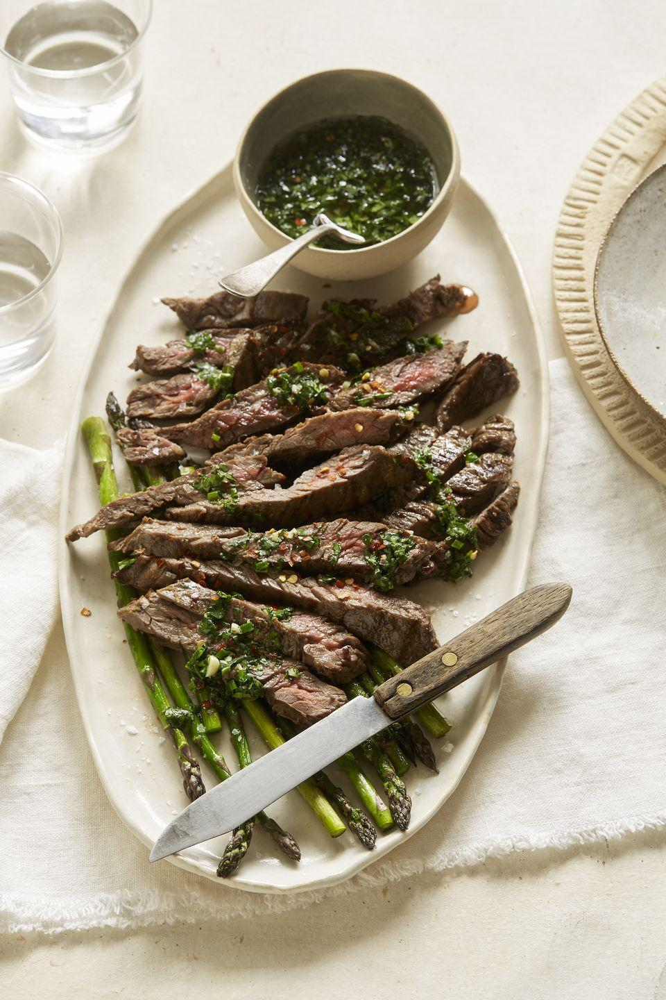 "<p>Show off your grill skills.</p><p>Get the recipe from <a href=""https://www.delish.com/cooking/recipe-ideas/recipes/a53320/cilantro-lime-chimichurri-grilled-steak-recipe/"" rel=""nofollow noopener"" target=""_blank"" data-ylk=""slk:Delish"" class=""link rapid-noclick-resp"">Delish</a>.</p>"