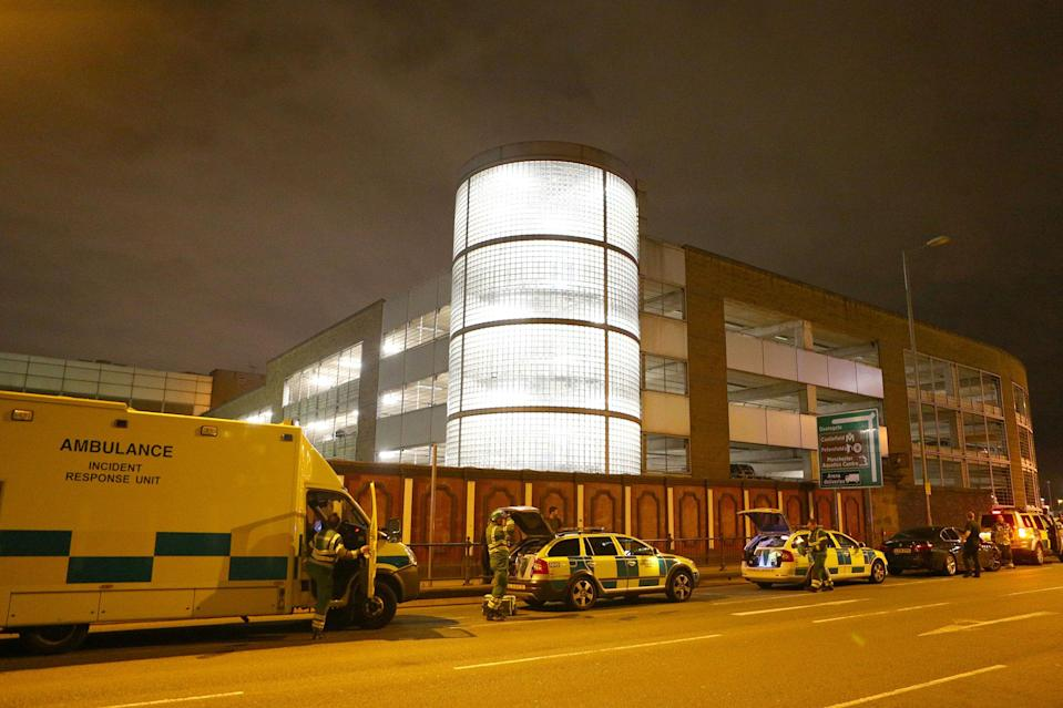 <p>Emergency services arrive close to the Manchester Arena on May 23, 2017 in Manchester, England. There have been reports of explosions at Manchester Arena where Ariana Grande had performed this evening. Greater Manchester Police have have confirmed there are fatalities and warned people to stay away from the area. (Dave Thompson/Getty Images) </p>