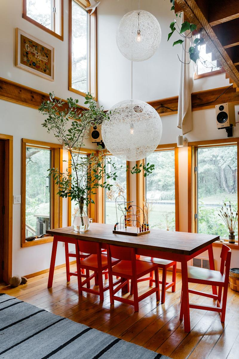 Double-height ceilings, peg board used in the most thoughtful ways, vintage everywhere, plants galore—this cozy upstate home has it all, and then some.