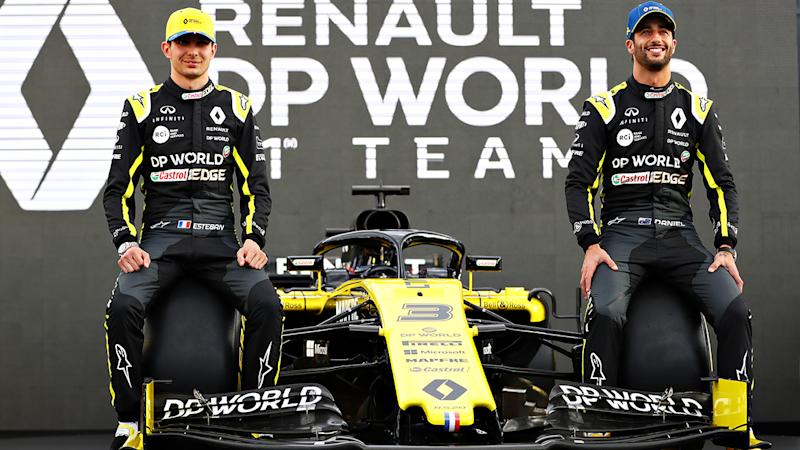 Esteban Ocon and Daniel Ricciardo, pictured here with their new Renault in March.