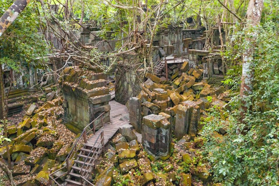 Located on the ancient royal highway to Preah Khan Kompong Svay, this mysterious temple dates back to the 11th century. [Photo: Getty]