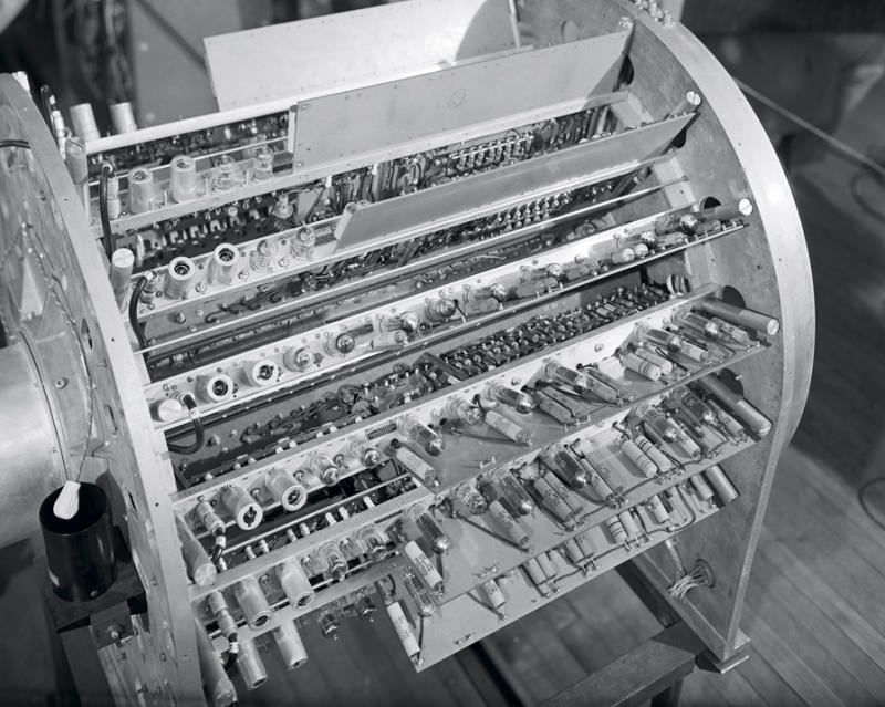 </a> A close up view of ENIAC parts at the Army's Aberdeen proving grounds in 1947.Photo: Jerry Cooke-Corbis