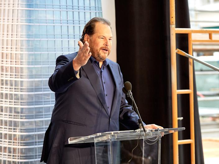 "Marc Benioff, Salesforce CEO & cofounder. <p class=""copyright"">Salesforce</p>"