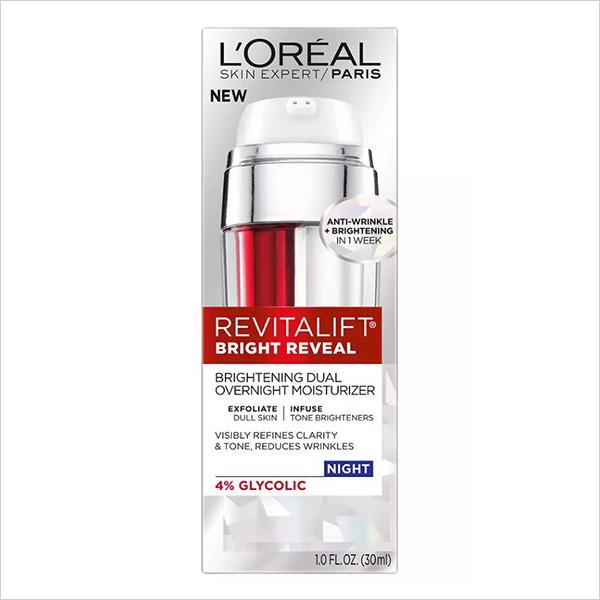 L'Oréal Paris Revitalift Bright Reveal Brightening Dual Overnight Moisturizer