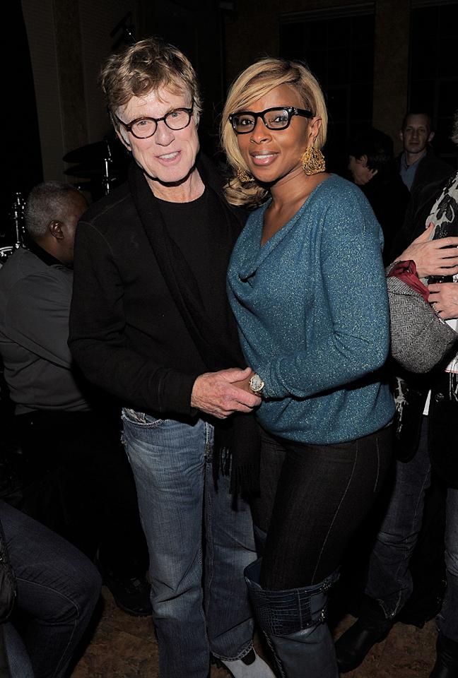 Robert Redford and Mary J. Blige are seen out and about during the 2012 Sundance Film Festival in Park City, Utah on January 22, 2012.