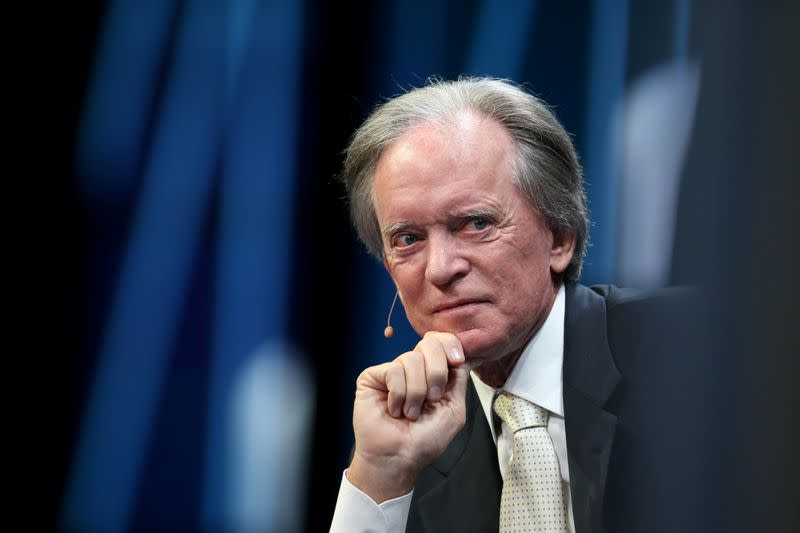 FILE PHOTO: Billionaire investor Bill Gross listens during the Milken Institute Global Conference in Beverly Hills