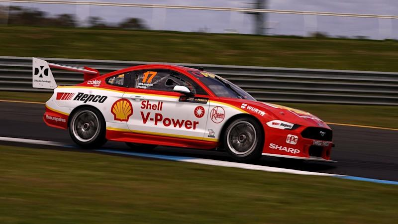 Scott McLaughlin qualified his team fastest for the Sandown co-driver race in his new Mustang