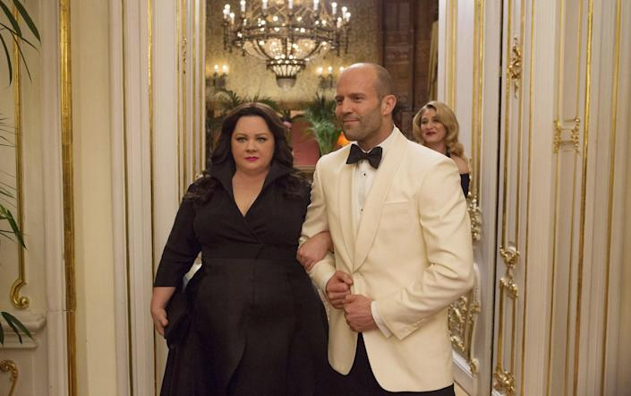 """<p><em>Spy</em> is a perfect film to watch with your mom. The comedy, about an unlikely secret agent, is so funny and contains zero naughty parts (a.k.a. no embarrassing moments to fast-forward through). Melissa McCarthy is just the bees knees. —<em>EL</em></p> <p><a href=""""https://www.amazon.com/Spy-Melissa-McCarthy/dp/B013EZQV6E"""" rel=""""nofollow noopener"""" target=""""_blank"""" data-ylk=""""slk:Rent it on Amazon Prime Video"""" class=""""link rapid-noclick-resp""""><em>Rent it on Amazon Prime Video</em></a></p>"""