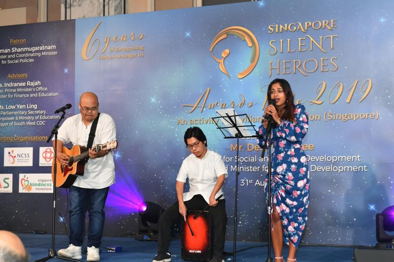 Performances by PWD at a minister's event. (PHOTO: Singapore Silent Heroes)