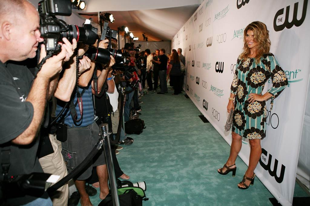 """Lori Loughlin arrives at the <a href=""""/90210/show/43006"""">""""90210""""</a> Launch Party on Saturday, 8/23 in Malibu, California."""