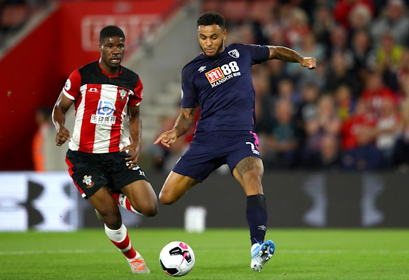 SOUTHAMPTON, ENGLAND - SEPTEMBER 20: Joshua King of AFC Bournemouth scores his team's second goal but it is latter ruled out for offside by VAR during the Premier League match between Southampton FC and AFC Bournemouth at St Mary's Stadium on September 20, 2019 in Southampton, United Kingdom. (Photo by Michael Steele/Getty Images)