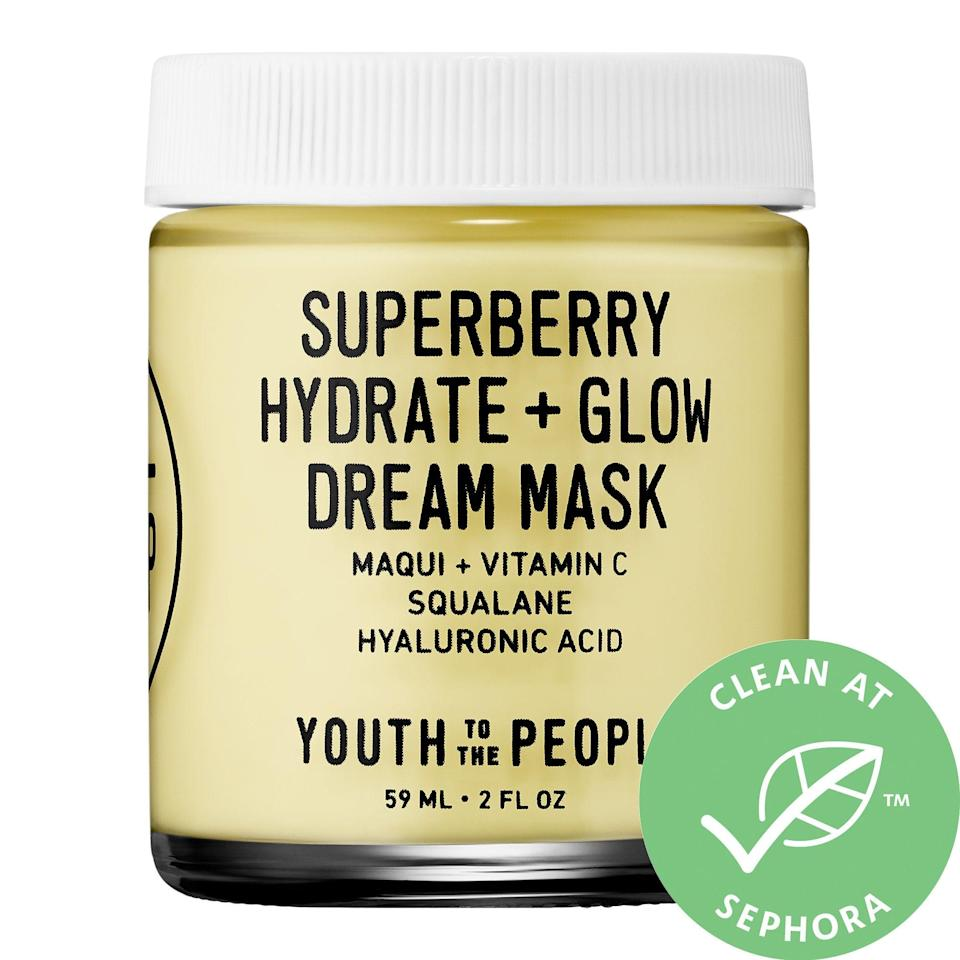 <p>The new <span>Youth To The People Superberry Hydrate + Glow Dream Mask</span> ($48) is made for people with dry skin. It's formulated with Vitamin C, one of our favorite brightening ingredients.</p>