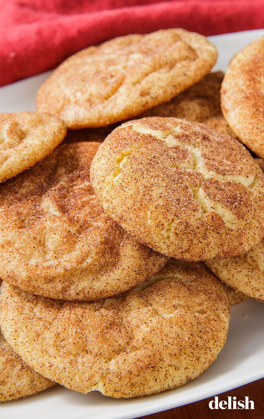 """<p>Everyone needs a good <a href=""""https://www.delish.com/cooking/recipe-ideas/g4172/snickerdoodle-recipes/"""" rel=""""nofollow noopener"""" target=""""_blank"""" data-ylk=""""slk:snickerdoodle"""" class=""""link rapid-noclick-resp"""">snickerdoodle</a> recipe in their repertoire. THIS IS IT. </p><p>Get the recipe from <a href=""""https://www.delish.com/cooking/recipe-ideas/a22004581/easy-snickerdoodle-cookie-recipe/"""" rel=""""nofollow noopener"""" target=""""_blank"""" data-ylk=""""slk:Delish"""" class=""""link rapid-noclick-resp"""">Delish</a>.</p>"""