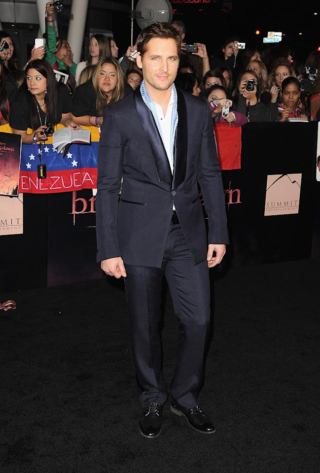 """<a href=""""http://movies.yahoo.com/movie/contributor/1800018788"""">Peter Facinelli</a> at the Los Angeles premiere of <a href=""""http://movies.yahoo.com/movie/1810158314/info"""">The Twilight Saga: Breaking Dawn - Part 1</a> on November 14, 2011."""